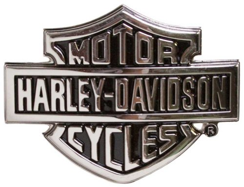 Logo Belt Buckle Buckles (Harley-Davidson Men's Bar & Shield Logo Belt Buckle with Chrome Finish)