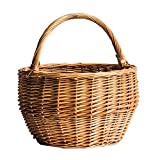 Better-Way La Jolla Oblong Rattan Storage and Shelf Basket Coastal Vibes Home Accents (9 inch)