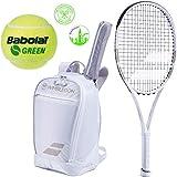 Babolat Wimbledon Pure Strike 26'' Junior Tennis Racquet (4 1/8'' Grip) Bundled with a Wimbledon Club Backpack, a Can of Green Play & Stay Balls and a Set of Wimbledon Dampeners