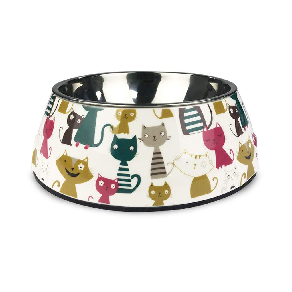 M 17.56.5cm Simple Pet Supplies Bowl Personality Fashion Cat Dog Basin Creative Cartoon Pattern Dog Eating Food Bowl (Size   M 17.5  6.5cm)