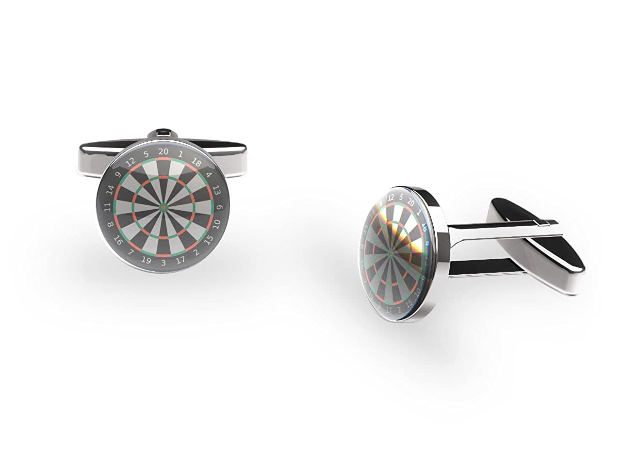 180 Dart Board Cufflinks (sports cufflinks with gift box) CNC9029