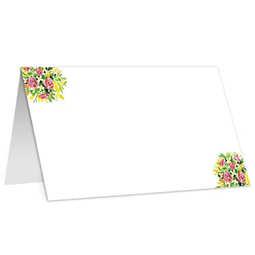 amazon com 50 tented place cards simple classic wedding baby shower