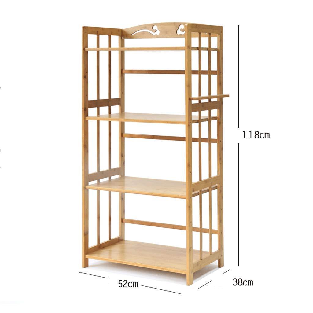 CCF Regal-Mikrowellenherd-Regal-Küchen-Wohnzimmer-Schlafzimmer-Boden-Stand-Bambusholz-Regal-Speicher-Regal CCFSF  5238118CM