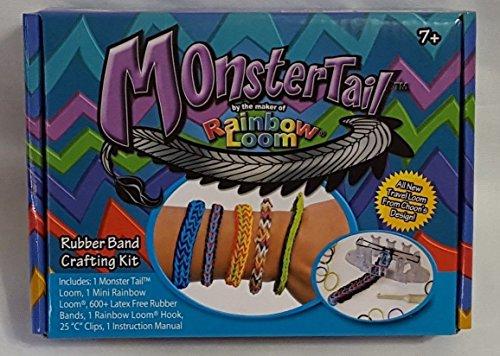 New Rainbow Loom Monster Tail Rubber Band Bracelet Making...