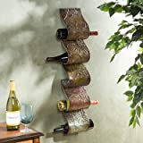Tuscan Wall Decor IRON SCROLL Wine Bottle Rack Holder