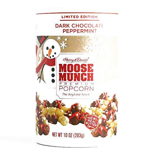 Harry & David Dark Chocolate Peppermint Moose Munch Popcorn 10 oz each (1 Item Per Order, not per case) -