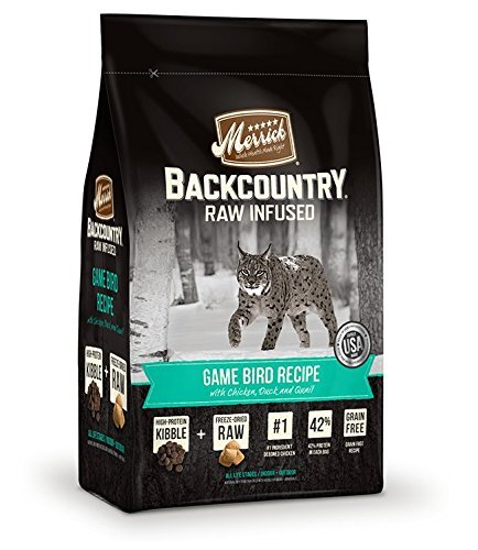 Merrick Backcountry Grain Free Raw Infused Game Bird Recipe Dry Cat Food, 6 Lb.