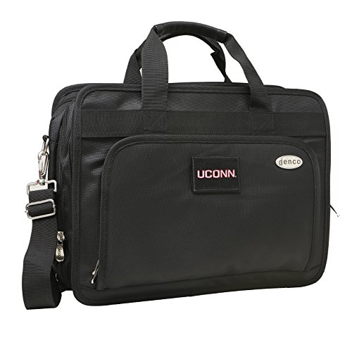 NCAA Connecticut Huskies Expandable Laptop Briefcase, 13-Inch, Black by Denco