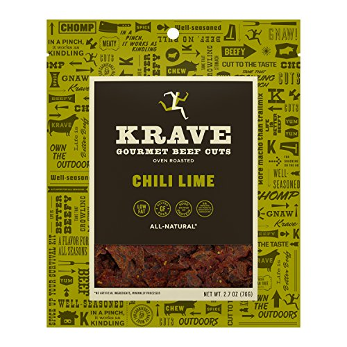 KRAVE Jerky Gourmet Beef Cuts, Chili Lime, 2.7 -