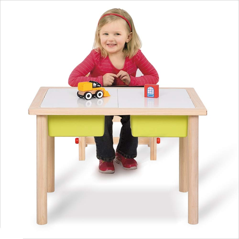 AA Simple Children's Table, Solid Wood Student Study Table Toy Table Kindergarten Baby Table Home (Color : Purple) by CozyHome
