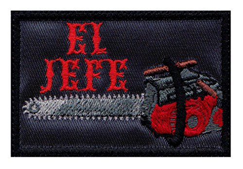 Evil Dead El Jefe Chainsaw Ash Inspired Art Morale Hook+Loop Patch