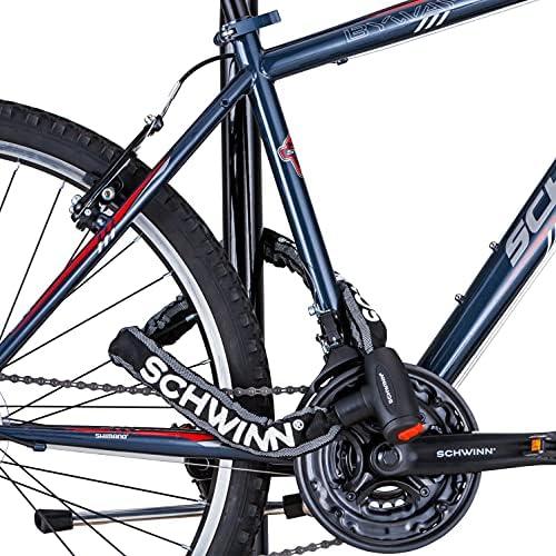 Achort Bike Lock Vélo Chaîne de haute sécurité à 4 chiffres numéro Vélo Câble