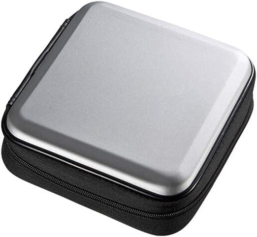 TnSok CD DVD Estuche Organizador portátil de almacenamie 24 Piezas de BLU-Ray Disc Caja de Almacenamiento de CD/DVD Bolsa de Almacenamiento (Color : Silver, Size : 17.5x17.5x5.5cm): Amazon.es: Hogar