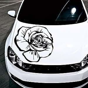 Amazon Com Car Decals Hood Decal Vinyl Sticker Rose