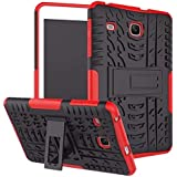 """Galaxy Tab E 8.0"""" T377 Case,Rugged Kickstand Stand Heavy Duty Kids Proof Protective Case for Samsung Galaxy Tab E 8.0 Inch SM-T378/ SM-T375 / SM-T377 Tablet (XW/Red)"""