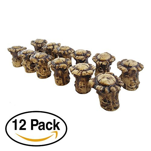 Cabinet Antler Pull - Pine Ridge Antler Drawer/Cabinet Knobs (Pack of 12) Knob Pulls with Screws. Antler Decor