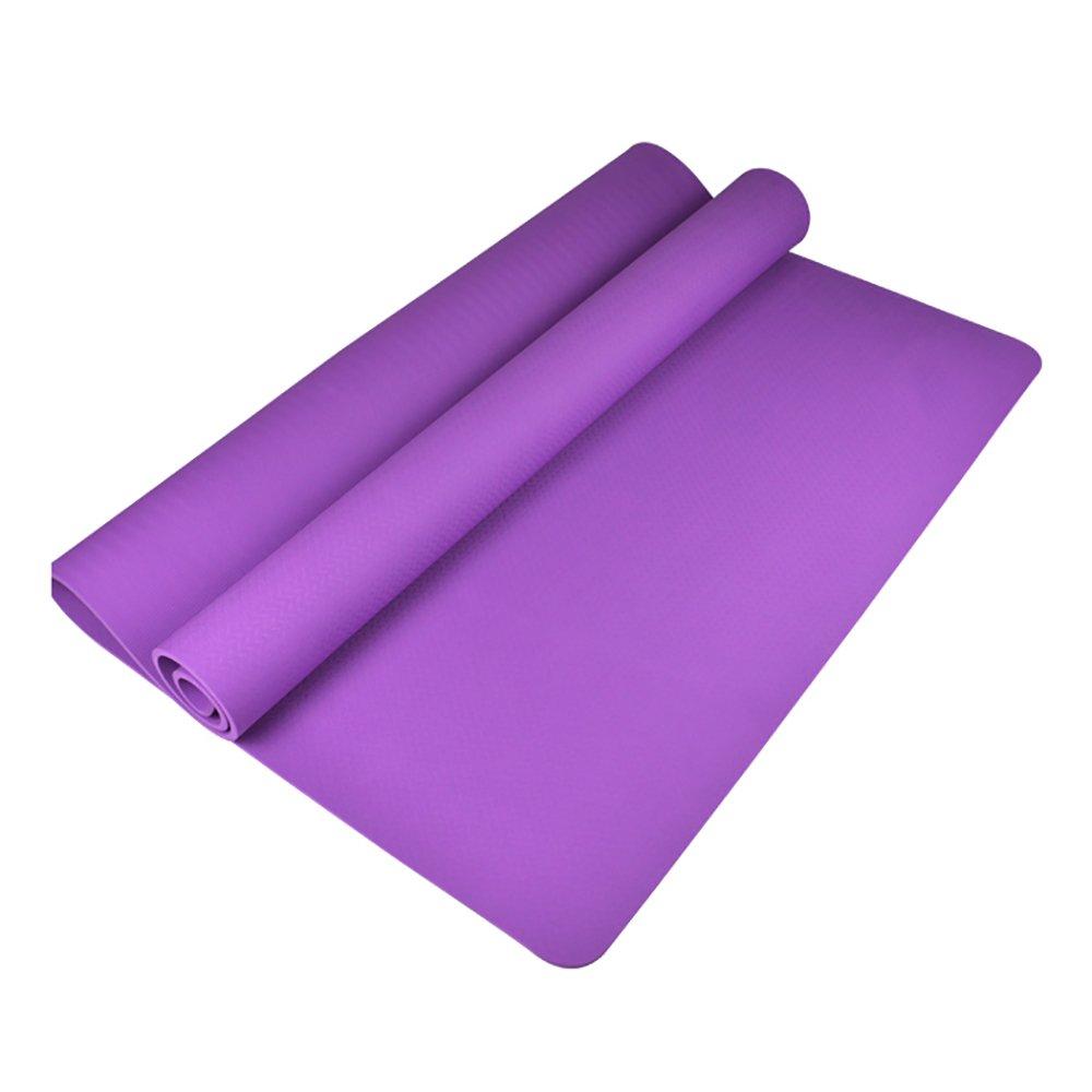 LiuJianQin YJD Yoga-Matte doppelte Leute TPE Rutschfeste aufgefüllte Yogamatte Sport-Matte im Freien   183  122CM (Farbe   Lila)