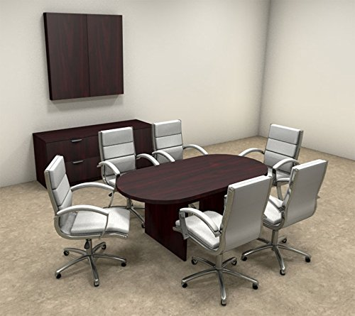 Modern Racetrack 6' Feet Conference Table, #OT-SUL-C3