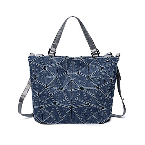 AJLBT Cowboy Triangle Diamond Rubik's Bag Tide Temperament Ladies Bolsa Grande Bolsa De Cubo Darkblue