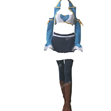 Fairy Tail Lucy Heartfilia 7 years later Cosplay Costume bear