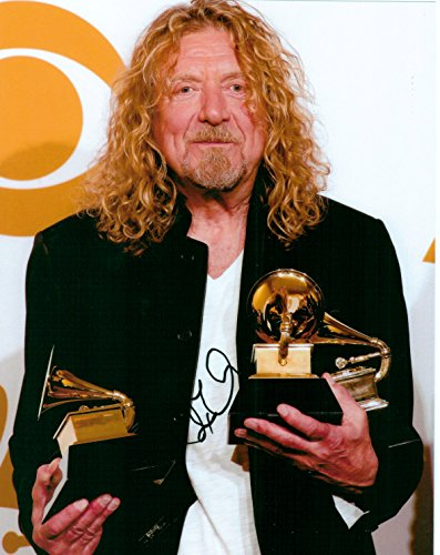 (Robert Plant of Led Zeppelin 8 X 10 Photo Display Autograph on Glossy Photo Paper)