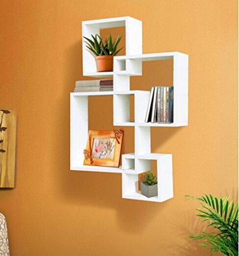 amazon com shelving solution intersecting decorative white color