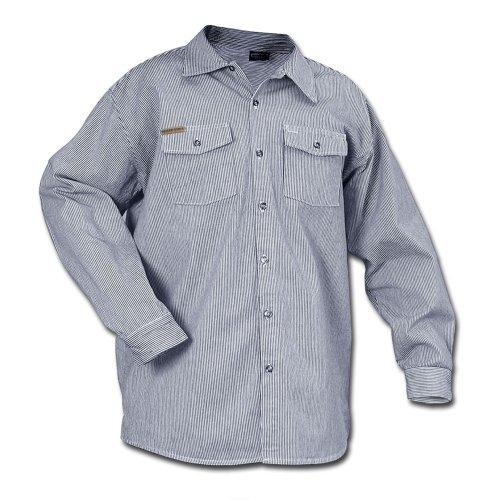 Prison Blues Long Sleeve Button Hickory Shirt - Regular