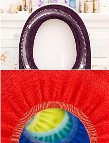 Iuhan 2Pcs Bathroom Toilet Seat Closestool Washable Soft Warmer Mat Cover Pad Cushion❤️Random Color❤️ (2) by Iuhan (Image #5)