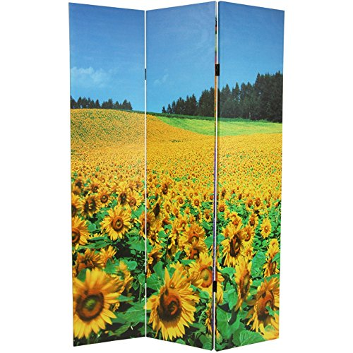 Oriental Furniture 6 ft. Tall Floral Double Sided Room Divider