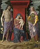 'Andrea Mantegna The Virgin And Child With Saints ' Oil Painting, 16 X 19 Inch / 41 X 49 Cm ,printed On Perfect Effect Canvas ,this Cheap But High Quality Art Decorative Art Decorative Canvas Prints Is Perfectly Suitalbe For Kitchen Artwork And Home Decor
