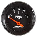 "AutoMeter 2652 Gauge, Fuel Level, 2 1/16"", 73Ωe to 10Ωf(Aftermarket Linear), Elec, Z-Series"