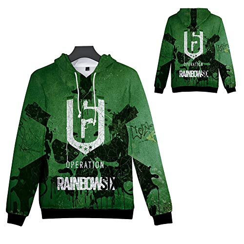weiwei Boys' Teen 3D Print Rainbow Six Graphic Sweatshirts Long Sleeve Pullover Hoodies with Pocket,Height110cm/43.3