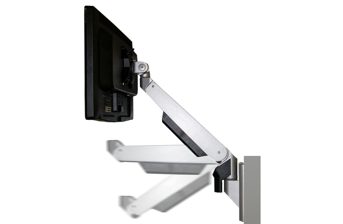 Allcam Gas Spring monitor mount: free moving action