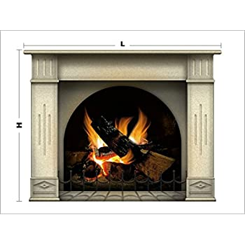 Genial Wall Stickers Large Fireplace Decal 97 Cm. / 127 Cm. Multicolor Fireplace  Fireplace Wall