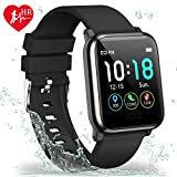 L8star Fitness Tracker HR, Activity Tracker with 1.3inch IPS Color Screen Long Battery Life Smart Watch with Sleep Monitor Step Counter Calorie Counter Smart Bracelet for Women Men (Black)