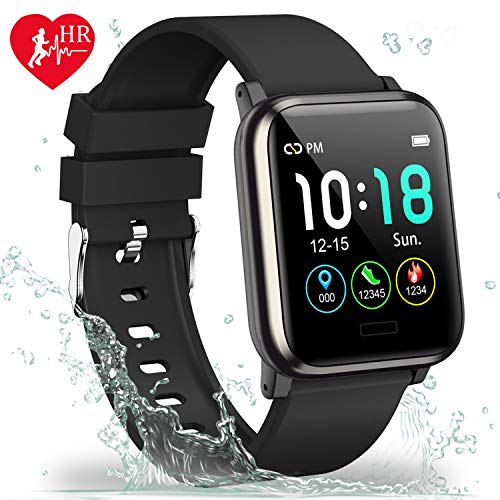 L8star Fitness Tracker HR, Activity Tracker with 1.3inch IPS Color Screen Long Battery Life Smart Watch with Sleep Monitor Step Counter Calorie Counter Smart Bracelet for Women Men (Black) (Best Cheap Fitness Tracker)