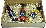 Bravado Spice Co. Hot Sauce 5 oz Bottles Gift Set (GHOST PEPPER + CRIMSON + PINEAPPLE)
