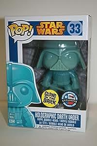 Funko - Figurine Star Wars Darth Vader Pop Holographic Glow in the Dark - 0849803037260