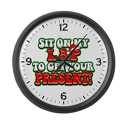 Large Wall Clock Christmas Santa Sit On My Lap
