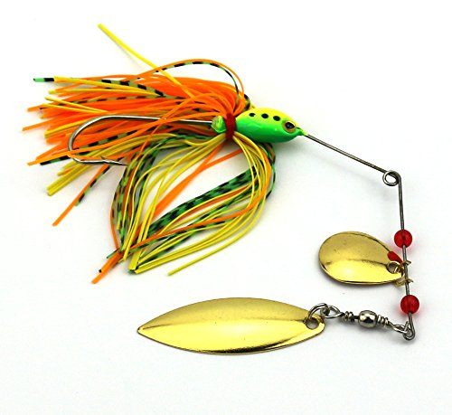 Yogayet fishing hard spinner lure spinnerbait pike bass 17 for Amazon fishing spinners