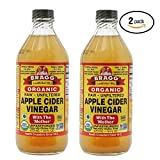 Bragg USDA Organic Raw Apple Cider Vinegar, With The Mother 16 Ounces...