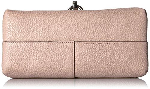 Ecco Ecco Isan Crossbody, sac à bandoulière femme, Rot (Rose Dust), 10x18x21 cm (L x H P)