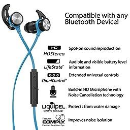 Phaiser BHS-730 Wireless Bluetooth Sport Headphone with Mic - Oceanblue