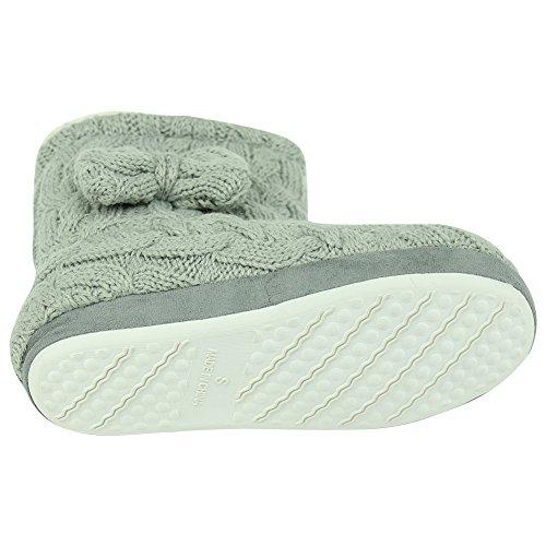 Zachte Zachte Fleece Voor Dames Winterlaarzen Indoor House Fashion Laarzen Pantoffels Lichtgrijs