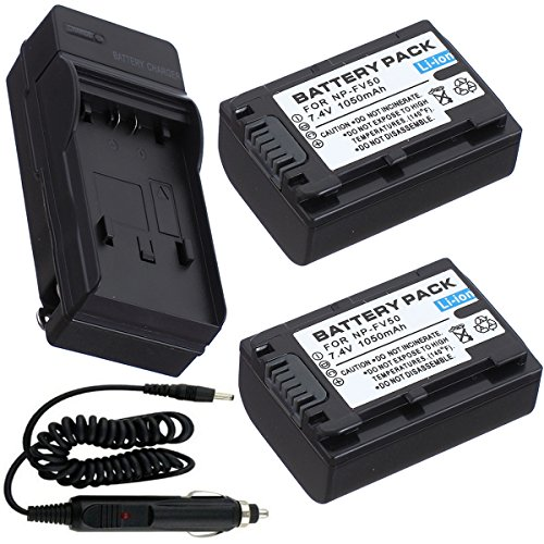 Battery  + Charger for Sony HDR-CX200 HDR-CX210 High Definit