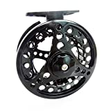 Fly Fishing Reel 2+1 BB 1:1 Die Full Metal Casting Aluminum Alloy Body 3/4 Black