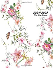 2021-2025 Five Year Planner: 60-Month Schedule Organizer 8.5 x 11 with Floral Cover (Volume 3)