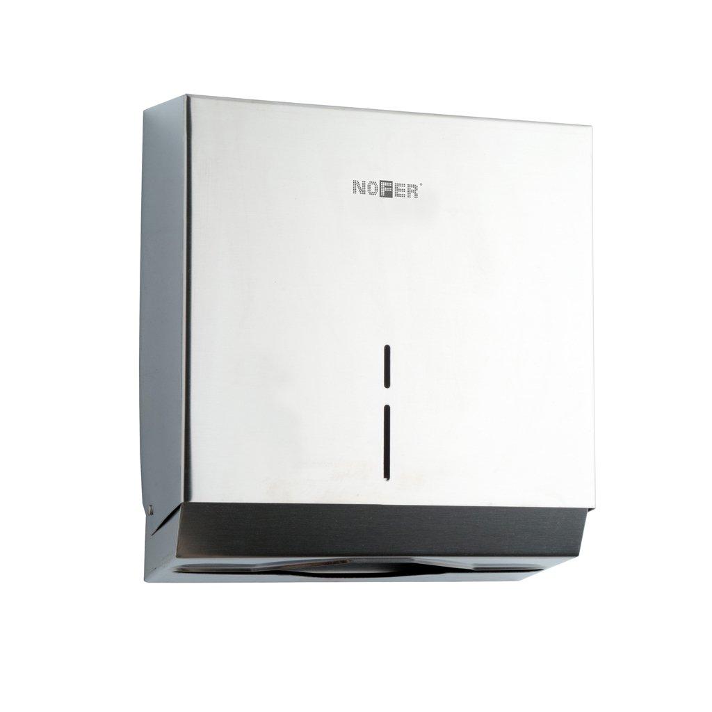 Dispenser salviette di carta distributore porta asciugamani acciaio inox satinato Nofer 04005. S