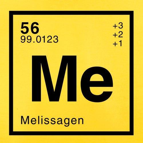 Melissa Periodensystem - Herren T-Shirt - Gelb - M