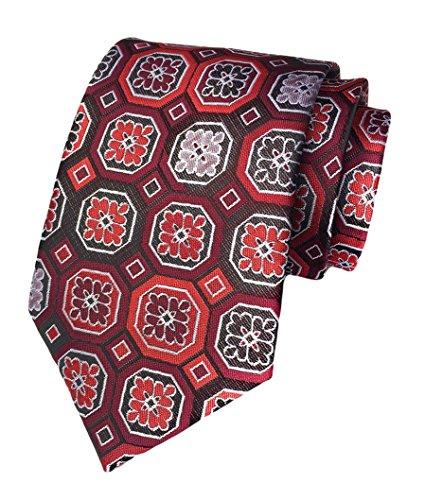 MENDENG New Men Large Striped Blue Gray Jaquard Woven Silk Necktie Business (Blue Gray Stripe Silk Necktie)